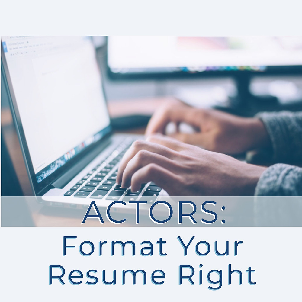 how to format an acting resume
