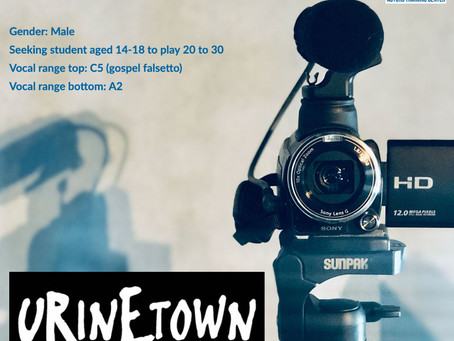 Now Casting - Bobby Strong in Urinetown
