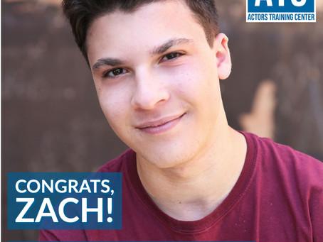 Congrats, Zach! #train2work