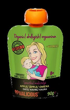 Vegan, Organic Baby Smoothie - Apple/Cinnamon PACK OF 6