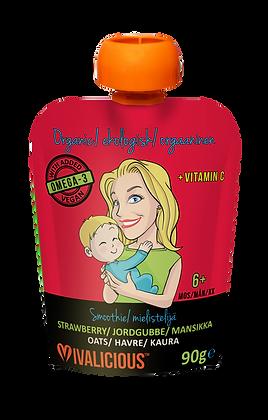 Vegan, Organic Baby Smoothie - Strawberry PACK OF 6