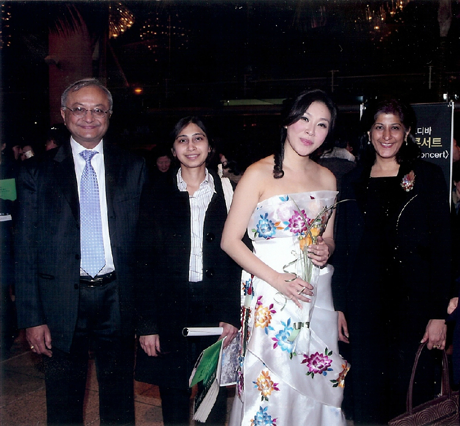Rose Jang with Indian Ambassadors