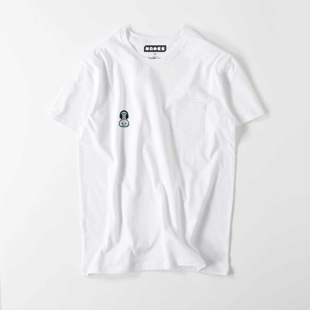 FUNNY☆BUNNY【 音楽なしじゃ成仏できない!ワンポイント刺繍 】ポケットTシャツ