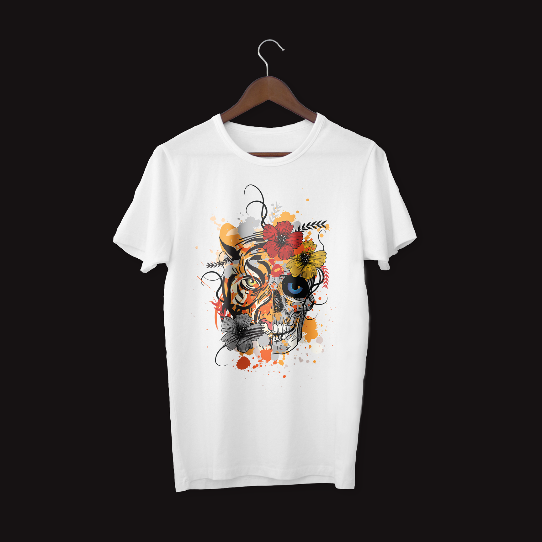 TIGER-AND-SKULL-WHITE-TEE
