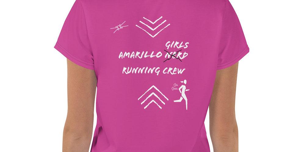 Dark Pink/White Amarillo Runner Crop Tee