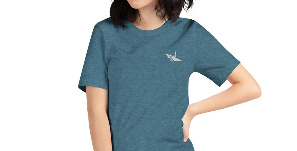 Origami Crane Embroidered Shirt