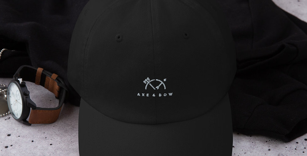 Classic Dad Hat with the Axe & Bow Twist