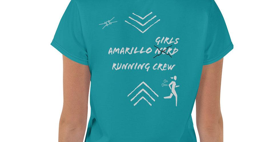 Teal Amarillo Runner Crop Tee