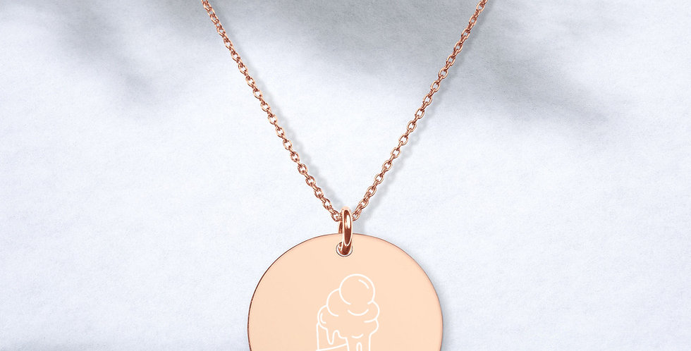 Ice Cream Engraved Necklace