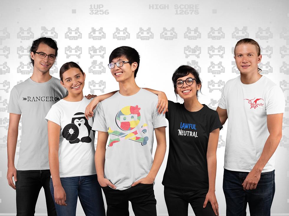 t-shirt-mockup-of-a-diverse-gaming-team-