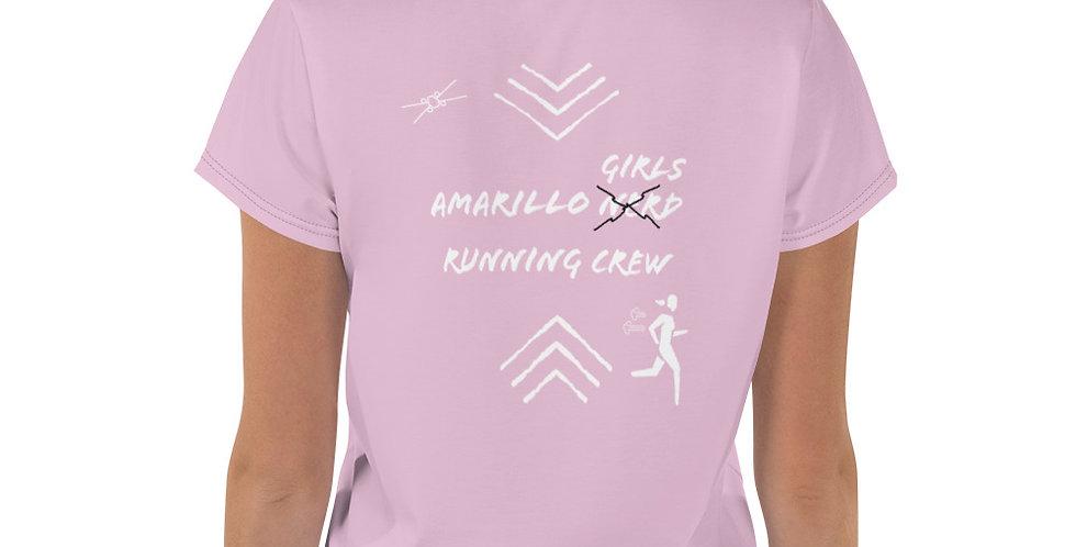 Amarillo White/Pink Runner Crop Tee