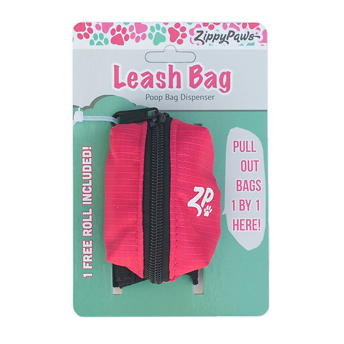 Leash Bag - Hibiscus Pink