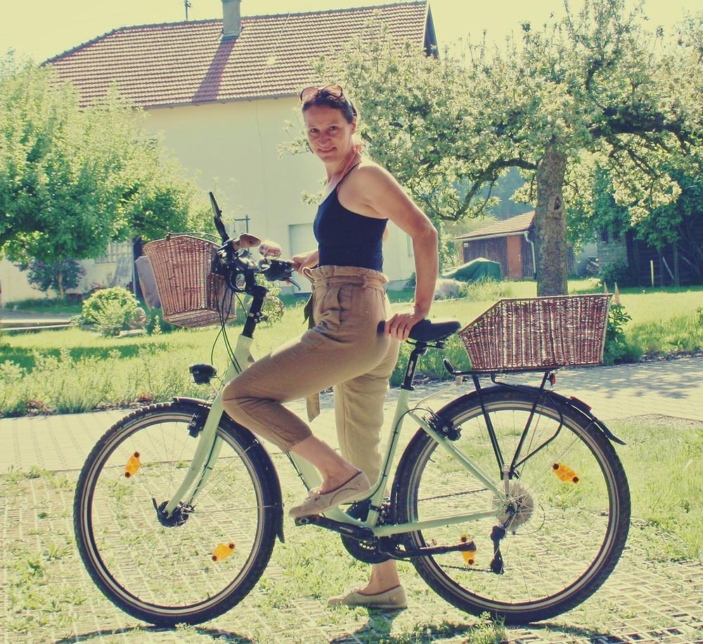 Alltagsradler jeden Tag mit dem Fahrrad fahren