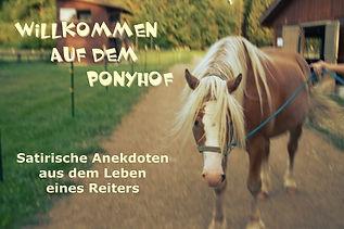 Satire Reiter Pferdehof