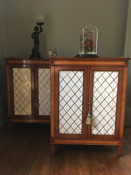 Pair of fine quality side cupboards by Restall, Brown & Clennell