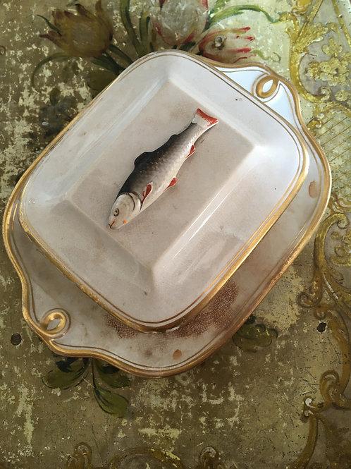 Georgian lidded sardine box or dish