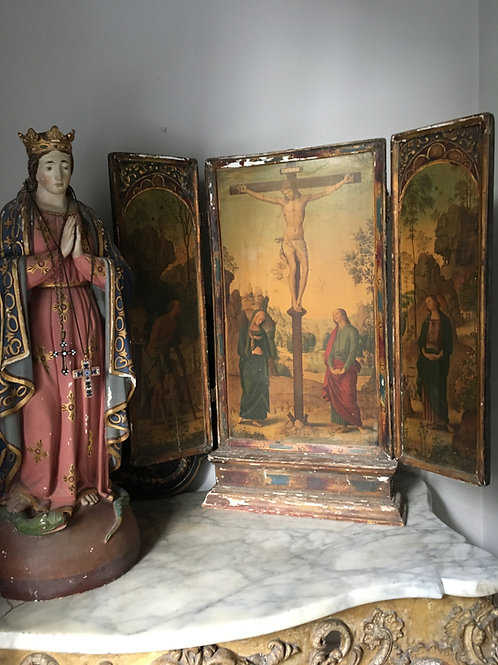 A 19th Century Italian Florentine Tryptych