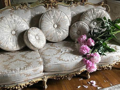 A Magnificent Early 20th Century Giltwoo Italian Sofa c1930
