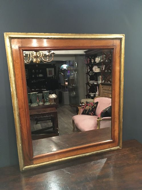 Victorian Walnut and Parcel Gilt Mirror