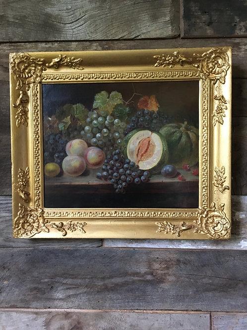 Still life of Fruit by Scottish Artist Joseph Donavan Adams RSA 1859-1892