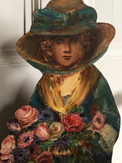 Victorian Dummy board of a Flower Seller