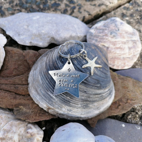 Make A Wish Upon A Starfish Keyring