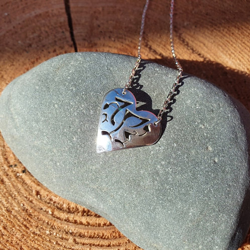 Welsh Dragon Heart Necklace
