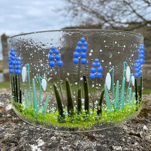 Snowdrop and Grape Hyacinth Glass Curve