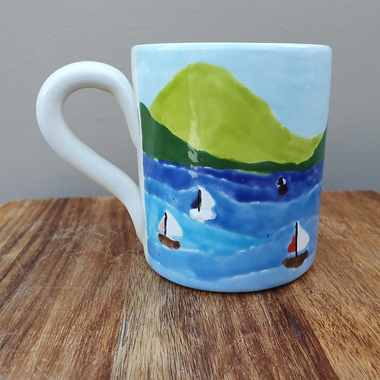 Boats on the Strait Ceramic Mug