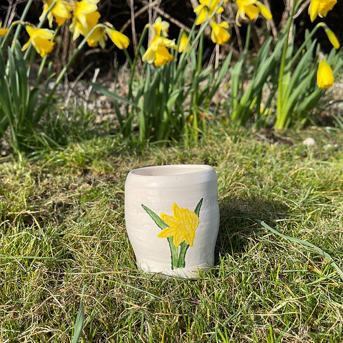Ceramic Daffodil Pot