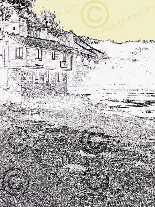 Bridge House, Menai Bridge Mounted Digital Print