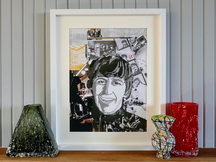 Limited Edition Ringo Starr Framed Paper Collage Print
