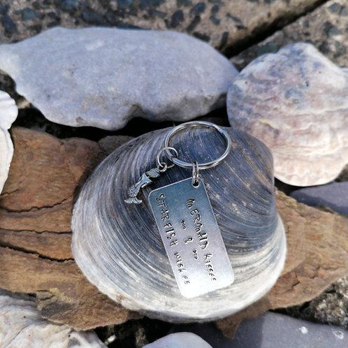 Mermaid Kisses & Starfish Wishes Keyring