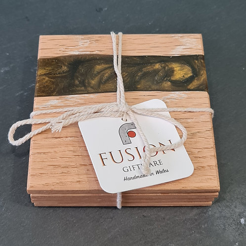 Wood & Olive Resin Coasters