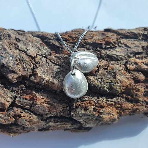 Silver Double Cowrie Necklace