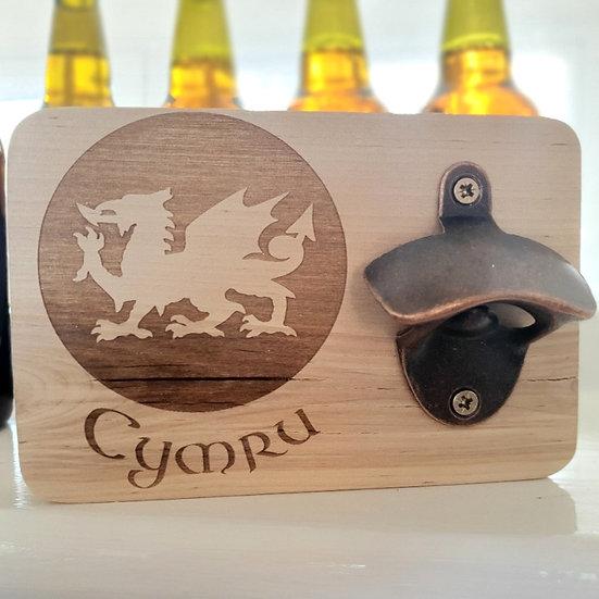 Cymru Welsh Dragon Bottle Opener