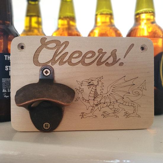 Cheers Welsh Dragon Bottle Opener