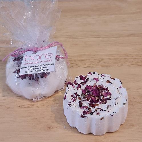 Rose Geranium & Patchouli Bath Bomb