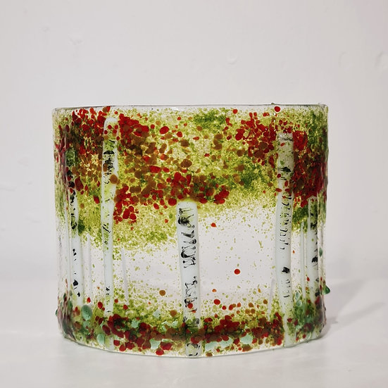 Autumn Forest Fused Glass Curve