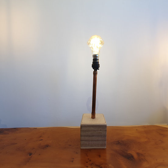 Ply Block Copper Lamp