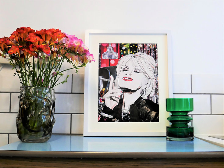 Limited Edition Joanna Lumley, Patsy Stone Paper Collage Framed Print