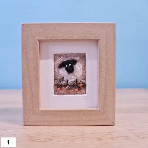 Welsh Sheep Felt Pictures