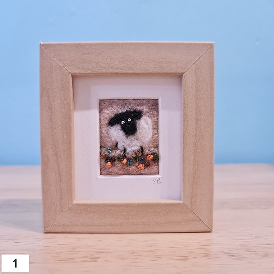 Welsh Sheep Felt Pictures