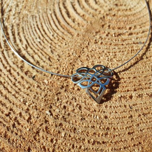 Celtic Knot Heart Pendant Necklace