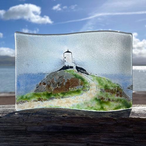 Fused Glass Llanddwyn Island Wave
