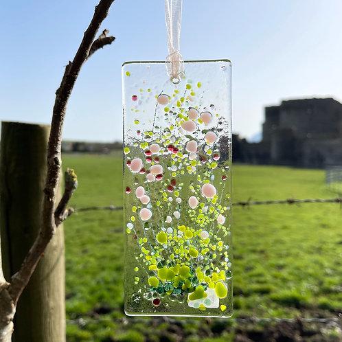 Fused Glass Summer Boquet Light Catcher
