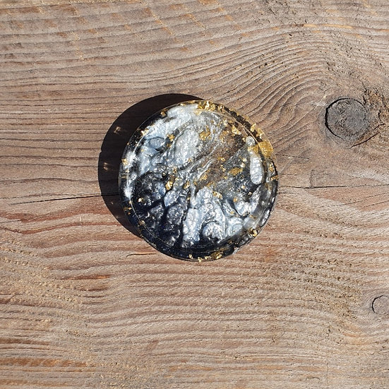 Resin Coaster with Gold Leaf