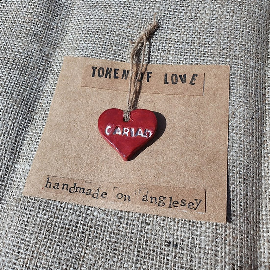 Ceramic Cariad Heart Token
