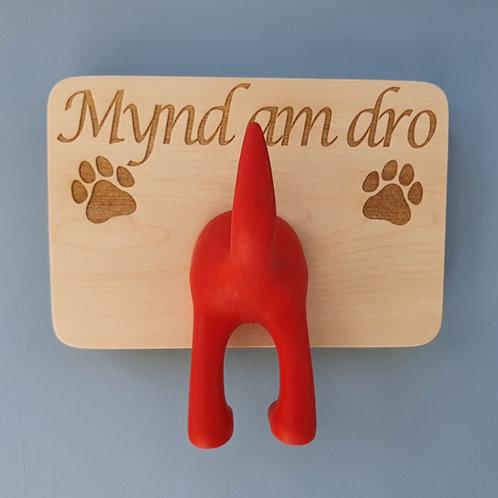 Mynd Am Dro Dog Lead Hanger Single