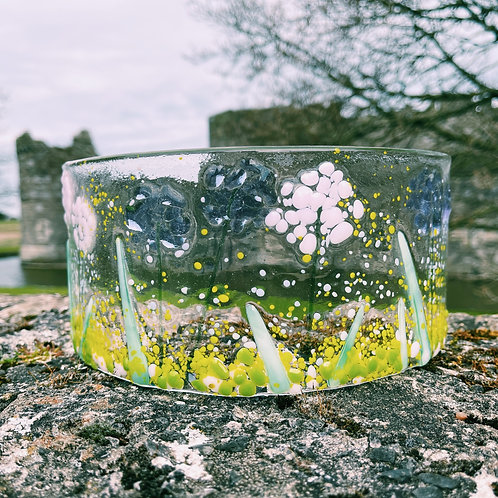 Spring Flowers Glass Curve